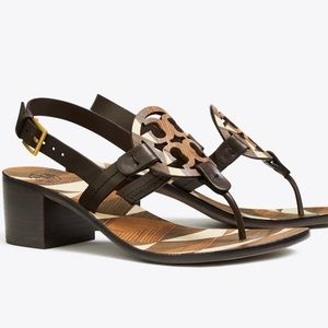 Tory Burch Shoes - Tory Burch Miller logo 45 mm slingback sandals